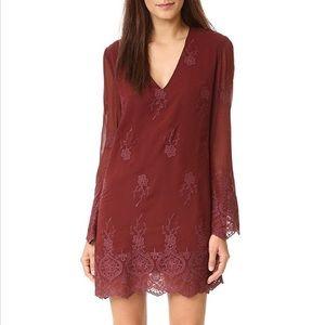 WAYF Lace Shift Dress